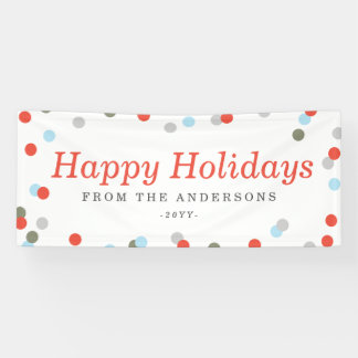 Confetti Holiday Banner
