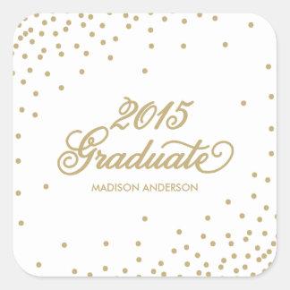 Confetti in White | Graduation Sticker