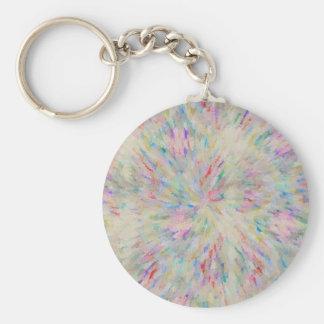 Confetti Basic Round Button Keychain