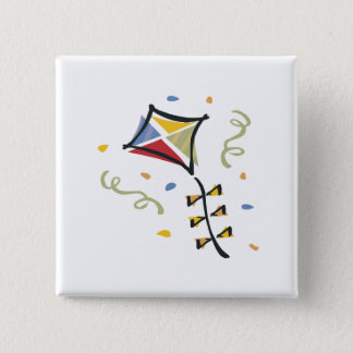 Confetti Kite Pinback Button