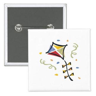 Confetti Kite Pinback Button