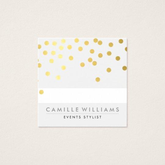 CONFETTI modern cute polka dot pattern gold foil