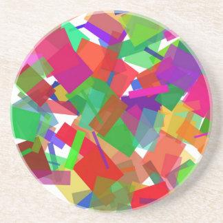 Confetti Multicolor Coaster