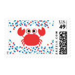 Confetti Nautical Crab Baby Shower Postage Stamp