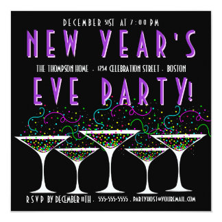 new years eve cocktail party invitations  announcements  zazzle, Party invitations