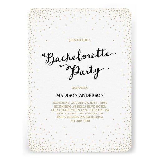 Confetti Nights   Bachelorette Party Invitation