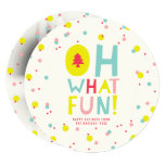 Confetti Oh What Fun Colorful Holiday Photo Card