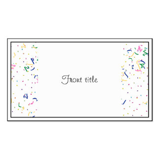 Confetti on Blank (Add A Background  Color) Business Card Templates