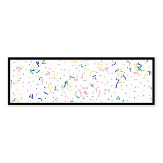 Confetti on Blank (Add A Background  Color) Business Cards