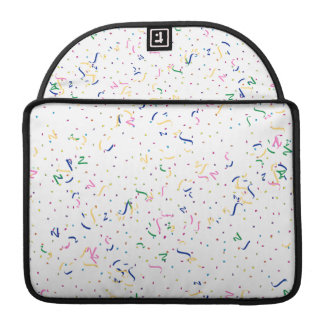 Confetti on Blank (Add A Background  Color) MacBook Pro Sleeves