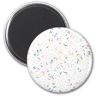 Confetti on Blank (Add A Background  Color) Fridge Magnets
