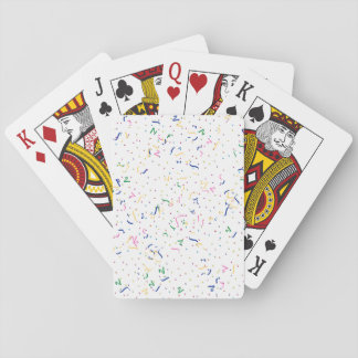 Confetti on Blank (Add A Background  Color) Deck Of Cards