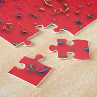 Confetti on Red Jigsaw Puzzle