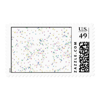 Confetti on White Background Stamp
