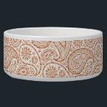 "Confetti Paisley Pattern Bowl<br><div class=""desc"">Confetti Paisley Pattern Paisley design for your precious pet.</div>"