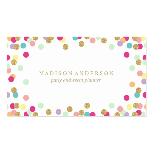 Confetti Party | Business Cards