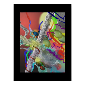 Confetti - Party Design in Many Colors Poster