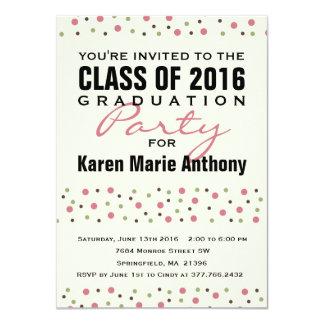Confetti Party Invitation 2016 Graduation