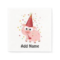 Confetti Party Pig Napkins