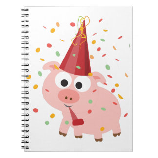 Confetti Party Pig Notebook