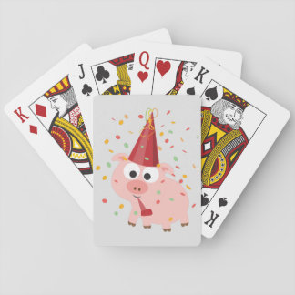 Confetti Party Pig Poker Cards
