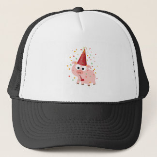 Confetti Party Pig Trucker Hat
