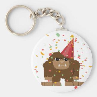 Confetti Party Sasquatch Bigfoot Keychain