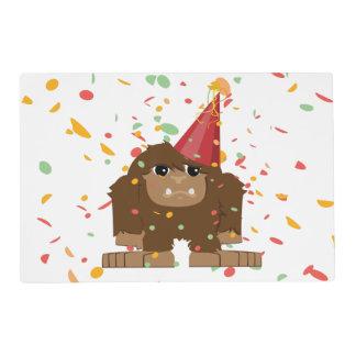 Confetti Party Sasquatch Bigfoot Placemat