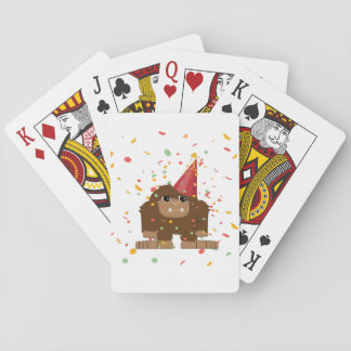 Confetti Party Sasquatch Bigfoot Playing Cards