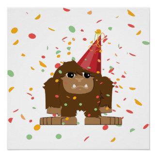 Confetti Party Sasquatch Bigfoot Poster