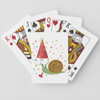 Confetti Party Snail Playing Cards