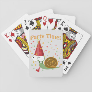 Confetti Party Time! Snail Playing Cards