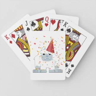 Confetti Party Yeti Playing Cards
