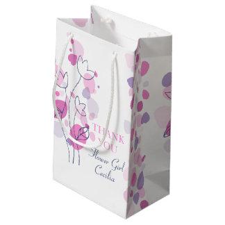 Confetti petals wedding flower girl favor gift bag small gift bag