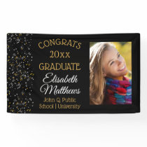 Confetti Photo Congrats Graduate Name | School Banner