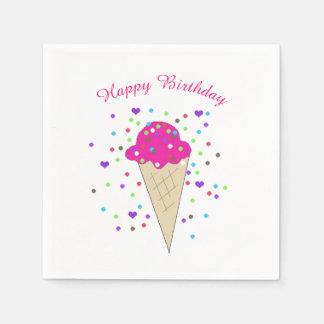 Confetti Pink Ice Cream Paper Napkin