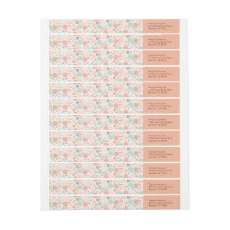 Confetti Polka Dots Wraparound Address Labels