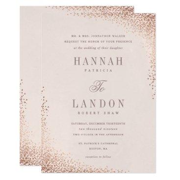 Professional Business Confetti shine faux foil wedding invitation