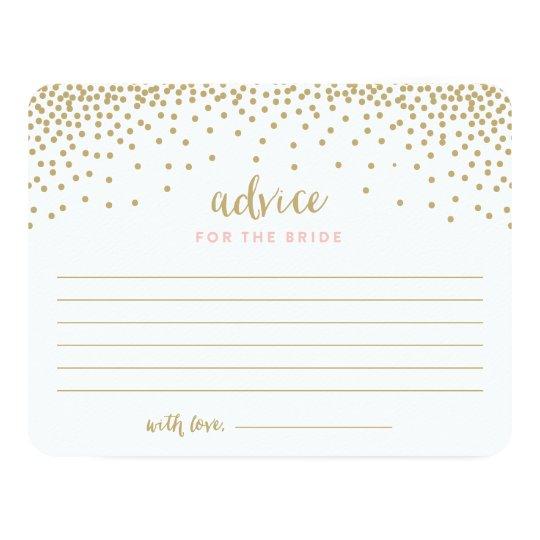 confetti shower bridal shower advice cards zazzle