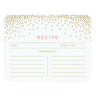 Confetti Shower | Recipe Cards