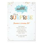 Confetti Shower Surprise Party Invitation Custom Invitations