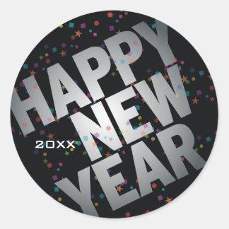 Confetti Silver Celebration New Years Sticker