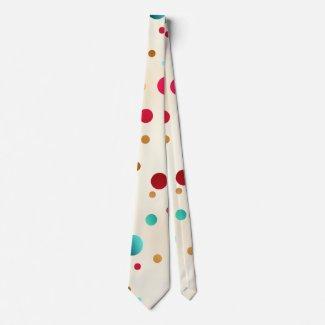 Confetti Sparkle Polka Dots Pattern Tie