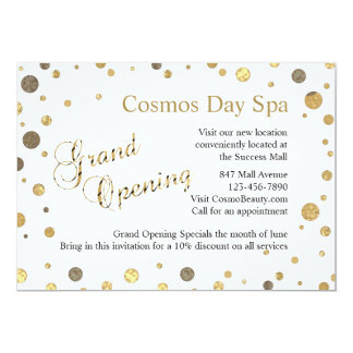 Confetti Sprinkle Grand Opening Business Invites