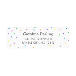 Confetti Sprinkles Return Address Label