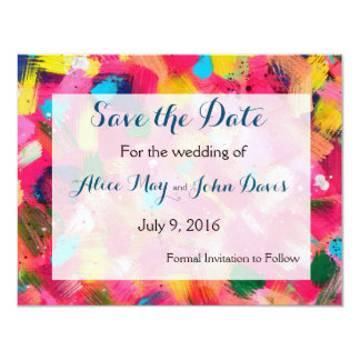 Confetti Storm Save the Date Card