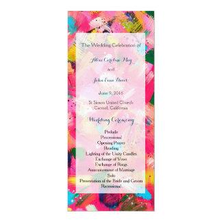 Confetti Storm Wedding Ceremony Program