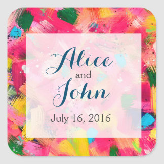 Confetti Storm Wedding Stickers