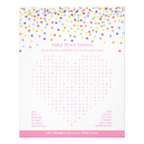 Confetti Theme Baby Shower Game Flyer