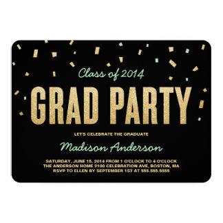 Confetti Toss | Graduation Party Invitation